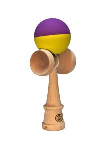 kendama_usa_kaizen2_half_split_violet_jaune_profil
